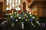 Choir screen flowers