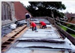 Chancel roof work